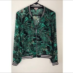 Juicy Couture palm print jacket